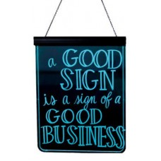 "GloWrite Illuminated Multicolor Edge Sign 19"" x 25"""