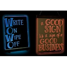 "GloWrite Illuminated Multicolor Edge Sign 24"" x 33"""